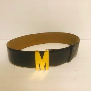 Moschino vintage blue belt